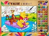 Игра Винни, Тигр и Пятачок: разноцветная математика