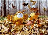 Игра Гарфилд и Одди - осень