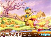 Игра Винни Пух - осенние листья