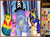 Игра Винни Пух - парад на Хэллоуин