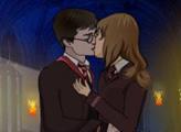 Игра Гарри и Джинни - поцелуй