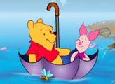 Игра Пух и Пятачок - путешествие в зонтике