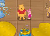 Игра Винни Пух по следам шаров