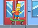 Игра Барт на скейтборде