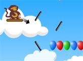 Игра Обезьянки: Воздушный дартс
