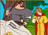 Игра Раскраска - Три Богатыря: Тайный разговор