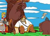 Игра Раскраска - Три Богатыря: Привал