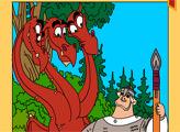 Игра Раскраска - Три Богатыря: Змей Горынич и Добрыня