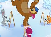 Игра Маша и Медведь: Кто нарисовал?