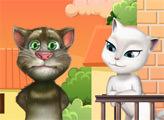 Игра Говорящий кот Том: Поцелуи