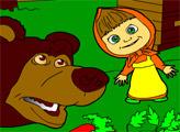 Игра Маша и медведь. Раскраска: Пасека