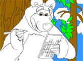 Игра Маша и медведь. Раскраска: Кроссворд