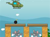 Игра Том и Джерри:  Вертолетная Бомбардировка