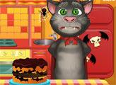Игра Говорящий Том - Торт на Хэллоуин