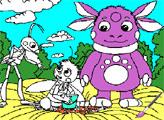 Игра Раскраска: Лунтик и его друзья