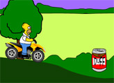Игра Гомер на квадрацикле