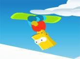 Игра Барт на сноуборде