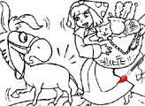 Игра Раскраска: Любава и ослик Моисей