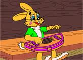 Игра Раскраска: Заяц и гусли
