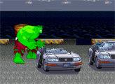 Игра Халк ломает автомобили