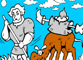 Игра Раскраска: Добрыня Никитич и верблюд