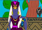 Игра Шамаханская царица - Раскраска