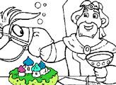 Игра Раскраска: Конь Юлий и Князь Киевский