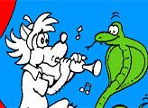Игра Раскраска: Волк и змея