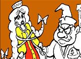 Игра Раскраска: Колыван похищает Забаву