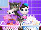 Игра Том и Анджела - день стирки