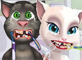 Игра Анжела и Том у дантиста