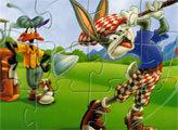Игра Банни и Даффи: гольф пазл