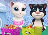 Игра Уборка игрушек Тома и Анжелы