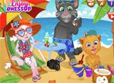 Игра Джинджер, Том и Анжела на отдыхе