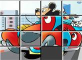 Игра Пазл-пятнашки Гонки в городе