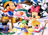 Игра Санта и Микки Маус - пазл