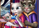 Игра Анжела и Том няньчат малыша