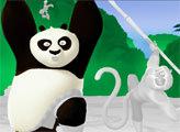 Игра Кунг Фу Панда: По и обезьяна - раскраска