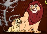 Игра Король лев: раскраски