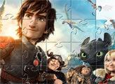 Игра Как приручить дракона: пазлы