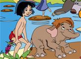 Игра Книга Джунглей: онлайн раскраска