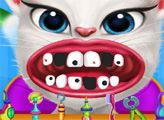 Игра Говорящая Анжела - осмотр стоматолога