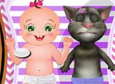 Игра Говорящий Том - няня для малыша