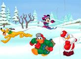 Игра Пазл - Зимние игры с Микки маусом