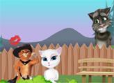 Игра Кот в сапогах и Анжела обманывают Тома