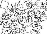 Игра Раскраска: Мишки Гамми - Все вместе