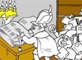 Игра Раскраска: Мишки Гамми - Колдун и Малыш Гамми