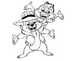 Игра Раскраска - Спасатели Чип и Дейл