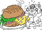 Игра Раскраска: Рокки и бутерброд