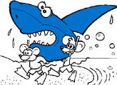 Игра Мыши и акулья голова - Раскраска